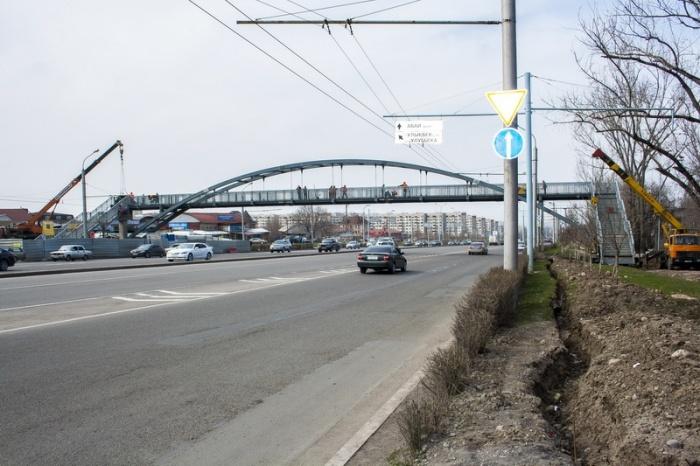 Пешеходный мост на Сайна