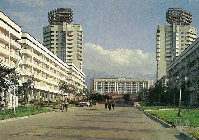 Вид на новую площадь,1983-год.