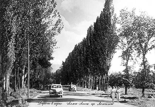 Проспект Ленина,1950-е годы.