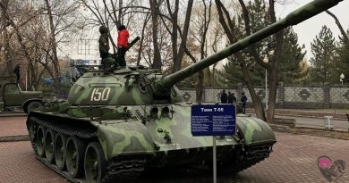 Экспозиция военной техники в парке Family